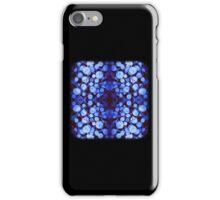 Blue Wood Mirrored iPhone Case/Skin