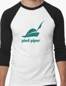 Pied Piper 3.0 Logo - Silicon Valley - New Logo - Season 3 Men's Baseball ¾ T-Shirt