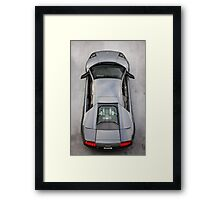 Lamborghini Murcielago LP640 From Above!  Framed Print
