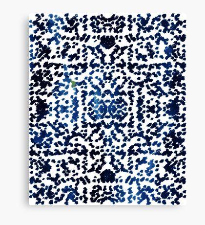 Watercolor Bohemian Ikat Ink Blot Canvas Print
