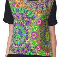 Seamless pattern mandala. Chiffon Top