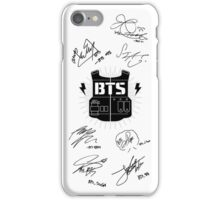 BTS Army + Signatures White iPhone Case/Skin