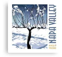 Winter in the Vineyard - White Canvas Print