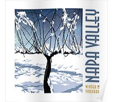 Winter in the Vineyard - White Poster