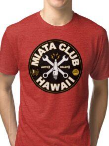 Miata Club of Hawaii Sparky Cross Tri-blend T-Shirt