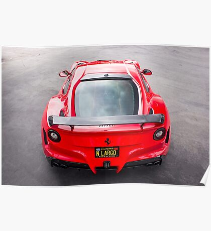 The Iconic Red Supercar Poster