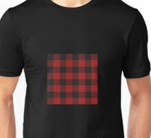 90's Black and Red Buffalo Check Plaid - Small Scale Unisex T-Shirt