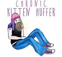 Kitten Huffer Photographic Print