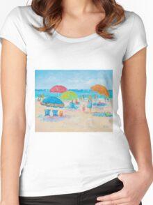 Beach Art - Relax Women's Fitted Scoop T-Shirt