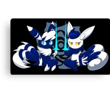 Meowstic Couple Canvas Print