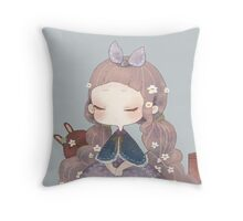 Inocent bunny  Throw Pillow