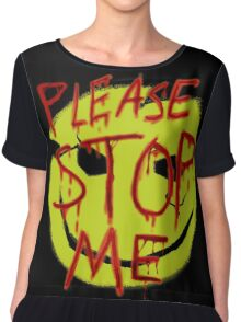 "Smileys ""Please Stop Me"" Chiffon Top"