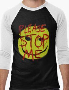 """Smileys """"Please Stop Me"""" Men's Baseball ¾ T-Shirt"""