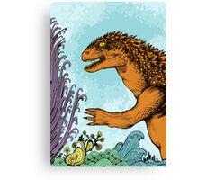Godzilla Doodle Canvas Print