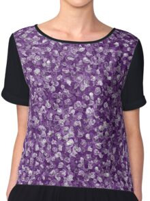 Purple flower watercolour Chiffon Top