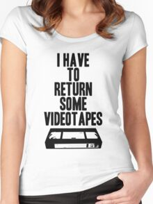 Videotapes Women's Fitted Scoop T-Shirt