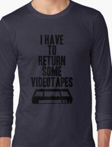 Videotapes Long Sleeve T-Shirt