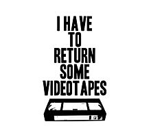 Videotapes Photographic Print