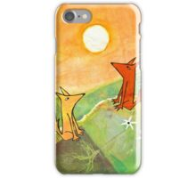 two dogs on a green hill iPhone Case/Skin