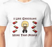 I Like Chocolate More Than People Unisex T-Shirt