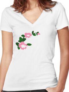 Marinette's flowers Women's Fitted V-Neck T-Shirt