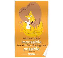 Matthew 19:26 Poster