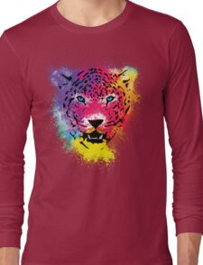 Tiger - Colorful Paint Splatters Dubs Long Sleeve T-Shirt