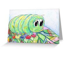 Sad Caterpillar Greeting Card