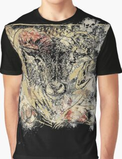Bloody Cool Goat - Modern Grunge and Wicked Design Graphic T-Shirt