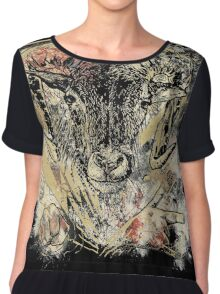 Bloody Cool Goat - Modern Grunge and Wicked Design Chiffon Top