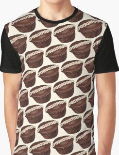 Hostess Cupcake Pattern Graphic T-Shirt