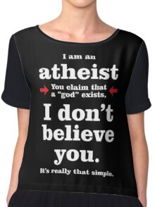 Simply Atheist Women's Chiffon Top