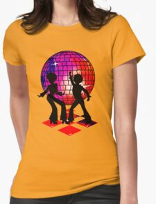 Retro Music DJ! Feel The Oldies! DANCE! Womens Fitted T-Shirt