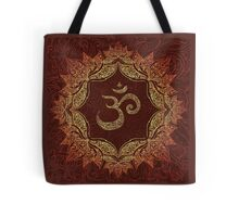 Om in Ornate Gold Tote Bag