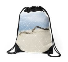Nature and Geometry - Drift Wood Drawstring Bag