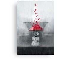 Staying dry Canvas Print