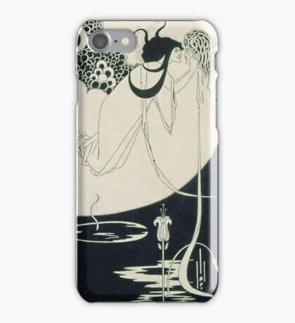 Vintage famous art - Aubrey Vincent Beardsley  - The Climax Illustration From  Salome  By Oscar Wilde iPhone Case/Skin