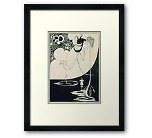 Vintage famous art - Aubrey Vincent Beardsley  - The Climax Illustration From  Salome  By Oscar Wilde Framed Print