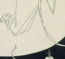 Vintage famous art - Aubrey Vincent Beardsley  - The Climax Illustration From  Salome  By Oscar Wilde Sticker