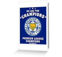 Leicester City Champions Greeting Card