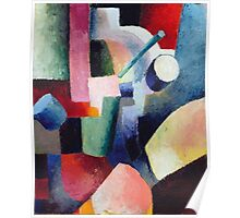 Vintage famous art - August Macke - Colored Composition Of Forms Poster