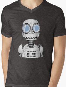Ro bot Mens V-Neck T-Shirt