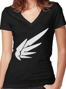 Mercy White Women's Fitted V-Neck T-Shirt