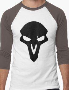 Reaper Black Men's Baseball ¾ T-Shirt