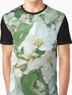 Painted White Petals Graphic T-Shirt