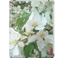 Painted White Petals iPad Case/Skin