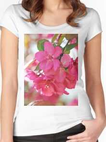 A branch of Crabapple flowers Women's Fitted Scoop T-Shirt
