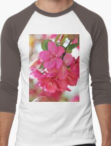 A branch of Crabapple flowers Men's Baseball ¾ T-Shirt