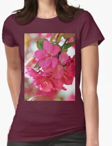 A branch of Crabapple flowers Womens Fitted T-Shirt