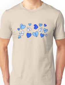 Repaired Hearts_Blue Unisex T-Shirt